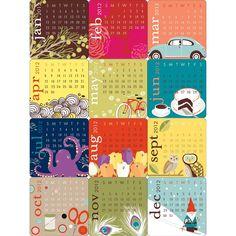 paper source mini accordion calendar