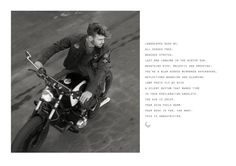 Old Khaki Winter 2015 Campaign #canvas #advertising #artdirection #fashion #shoot #motorbikes #oldkhaki #svenjacobsen Advertising Agency, A Boutique, My Design, Africa, Canvas, Movie Posters, Tela, Film Poster, Canvases