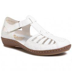 Sandále RIEKER - 45865-80 Weiss - Sandále na každodenné nosenie - Sandále - Šľapky a sandále - Dámske | eobuv.sk Mary Janes, Flats, Shoes, Fashion, Sandals, Loafers & Slip Ons, Zapatos, Moda, Shoes Outlet