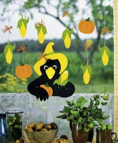 Latest Photo Picture result for window pictures autumn Picture result for . Tips These decorations are simple and self-explanatory, but some people may possibly do not have these so Fall Crafts, Diy And Crafts, Crafts For Kids, Fall Door Decorations, Fall Decor, Autumn Art, Autumn Leaves, Fall Diy, Wooden Letters