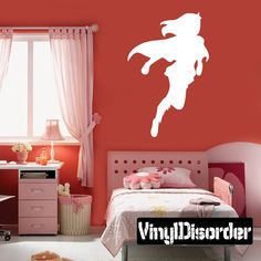 girl superhero wall decal