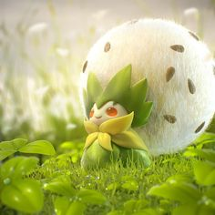 A wild Eldegoss appeared! by Sebastián MontecinosI'm really liking the new pokemon and since I saw this little guy I wanted to make a version of it Pokemon Comics, Cute Pokemon, Pokemon Planta, Pokemon In Real Life, Pokemon Human Form, Pikachu Drawing, Dragons, 3d Things, 3d Artist