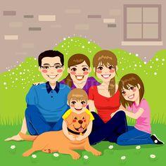 fotos de familias animadas unidas