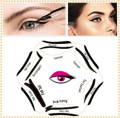 1pc Super style eyeliner stencil kit 6 model for eyebrows template the eye makeup a guide diy card #clothing,#shoes,#jewelry,#women,#men,#hats,#watches,#belts,#fashion,#style