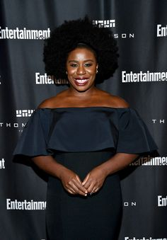 """Uzo Aduba attends Entertainment Weekly's Toronto Must List party at the Thompson Hotel on Sept. 10, 2016 in Toronto.  She is known for her role as Suzanne """"Crazy Eyes"""" Warren on the Netflix television series Orange Is the New Black (2013–present). She is the only actress to win Emmy Award recognition in both the comedy and drama genres for the same role."""