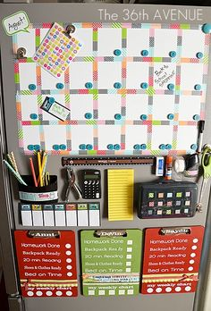 Love this for organizing my kids evening!  Could be utilized at a writing station in a classroom as well.  Clipboards could have writing checklists on them for students to use.