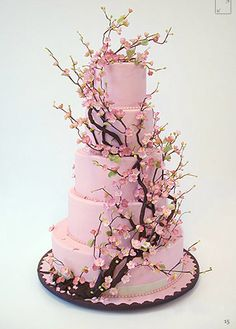 alexia dives posted Cherry Blossom cake by Ron Ben Israel - so pretty to their -wedding cakes- postboard via the Juxtapost bookmarklet. Gorgeous Cakes, Pretty Cakes, Cute Cakes, Amazing Cakes, Gorgeous Gorgeous, Crazy Cakes, Fancy Cakes, Cherry Blossom Cake, Cherry Blossom Wedding