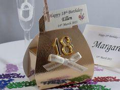 Birthday favour, Gold Lari Handbag Favour Box