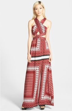 MISSGUIDED+Tile+Print+Maxi+Dress+available+at+#Nordstrom