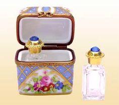 Blue Classical Perfume Holder Limoges Box