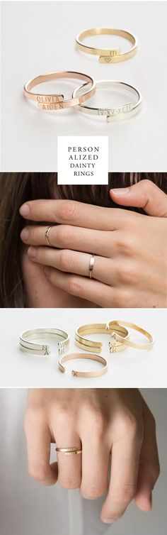 Personalized Initial Rings.  For a meaningful piece to treasure, nothing beats ethically hand-crafted, hand-personalized jewelry.