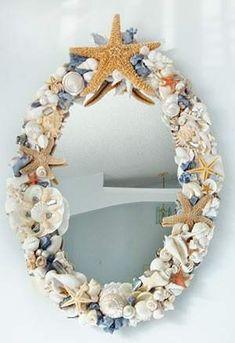 1000 images about espejos on pinterest mirror vintage for Espejos decorados con piedras
