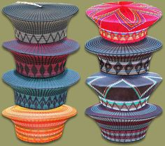 Zulu Hats available in a wide range of colors and styles. Hand made in South Africa Zulu Women, African Hats, Traditional African Clothing, African Fashion Designers, Ethnic Design, Corporate Gifts, Color Mixing, Captain Hat, African Style
