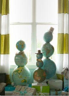 20 Creative DIY Repurposed Globe Ideas - ArchitectureArtDesigns.com
