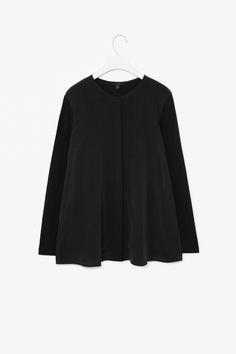 Silk front jersey top