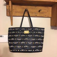 Large BETSEY Johnson bag Super cute black studded large zipper pocket on inside along with 2 other pockets Betsey Johnson Bags Shoulder Bags