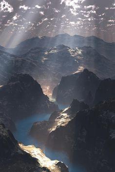 Mountain Godray byRalf Schreiber