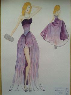 Figurin + diseño vestido