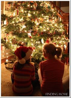 Take a picture of your kids in front of the tree every year—watch them grow and change!