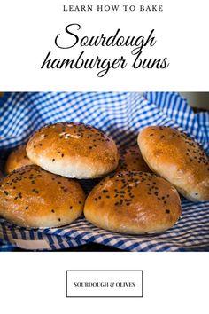 Bake your own sourdough hamburger buns Pulled Pork Bbq Sauce, Baked Hamburgers, Paprika Pork, Pork Shoulder Roast, Hamburger Buns, Oven Cooking, Sourdough Bread, All You Need Is, Bread Recipes