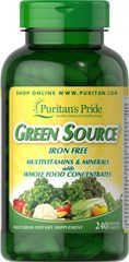 Green Source® Iron Free Multivitamin & Minerals  240 Caplets  $69.99