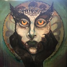 Owlwoman by Romuna Design #paintingonwood #northernnature
