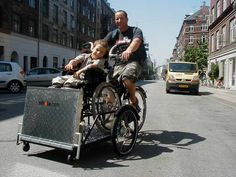 Wow -- this is cool.  Flex - a safe and lightweight cargo bike for riding with wheelchairs