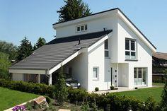 Moderne Pultdachhäuser bauen, massive Bauweise :: NURDA Bauunternehmen