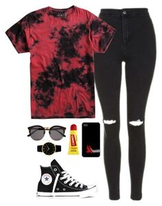 """Casual Day"" by quonton ❤ liked on Polyvore featuring Topshop, Carmex, Larsson & Jennings, Illesteva and Converse"