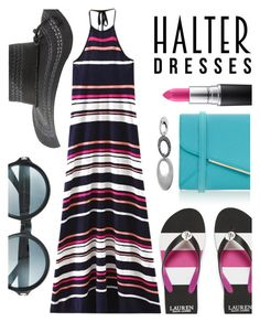 Halter Dress by ivansyd on Polyvore featuring polyvore fashion style Furla Trilogy Charlotte Russe Tom Ford MAC Cosmetics clothing halterdresses