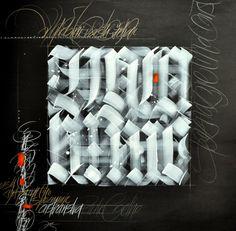 Calligraphy by Loredana Zega : Wood...