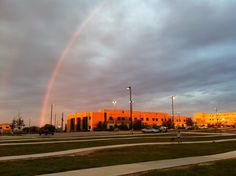A #coldfront is moving in! This is a recent view from the #CTMC walking trail, reminding us to always look for the #rainbows on cloudy days. #SMTX