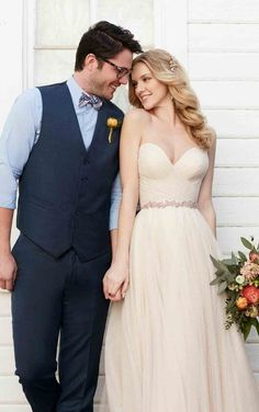 Casey + Scout Sweetheart corset tulle skirt wedding separates by Martina Liana