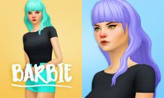Sims 4 Custom Content Finds - holosprite: Three beautiful hairs by @habsims...