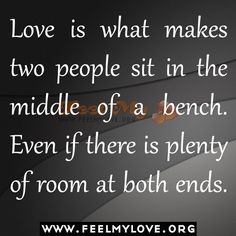 Love is what makes two people