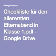 Checkliste für den allerersten Elternabend in Klasse 1.pdf - Google Drive