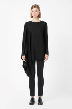 COS   Asymmetric sleeve jumper