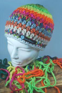 Mützen - Mütze Beanie bunt gestreift - ein Designerstück von DaiSign bei DaWanda