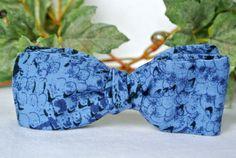 Blue Speckle Mens Bowtie  Menswear Accessories  Blue by ClassA