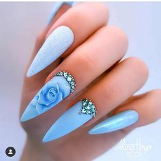 Do you want to try more bold and edgy nails? Then fine stiletto nails are your best choice. Check these amazing nail galleries together Beautiful Nail Designs, Cute Nail Designs, Beautiful Nail Art, Matte Nail Art, Stiletto Nail Art, Acrylic Nails, Pastel Nails, Art Nails, Acrylics