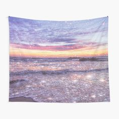 Ocean Vintage Sparkly Aesthetic • Millions of unique designs by independent artists. Find your thing. Tapestry Bedroom, Wall Tapestries, Tapestry Wall Hanging, Beach Aesthetic, 80s Aesthetic, Aesthetic Fashion, Aesthetic Pictures, Night Skies, Wall Prints