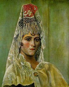 Pablo Picasso - Olga Khokhlova in the Mantilla, 1917