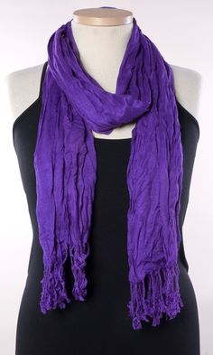 A soft scarf with a natural crinkle can be your most versatile accessory for any plus size outfit this season!