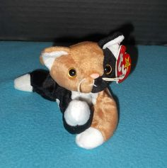 Ty Beanie Baby Chip The Calico Cat 4th Generation 1996 Style 4121  a2a086c9ca2e