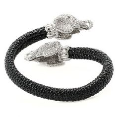 Elephant Bangle, $244, now featured on Fab. by CZ by Kenneth Jay Lane !!