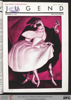 Jugend, German illustrated weekly magazine for art and life, Volume 42, 1937.