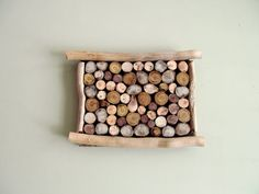 Driftwood Slice Hanging Art Wall Hanging by DriftingConcepts