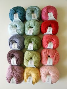 Gorgeous yarn shades - Debbie Bliss, yarnporn! xox