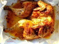 Armatyczny i soczysty kurczak pieczony. Bardzo prosty w przygotowaniu, idealny na specjalne okazje lub dzien powszedni ......