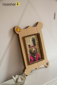 diy, cardboard frame, kid's room